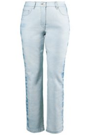 Jeans mit angesagten Batikstreifen, gerades Bein mit Stretchkomfort