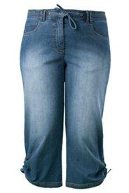 3/4-Jeans mit Wascheffekten, Stretchkomfort
