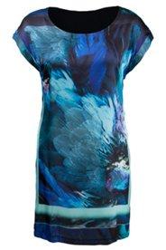 Kleid mit Federdruck, Elasthan