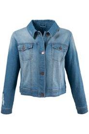 Jeansjacke mit modischen Destroy-Effekten, Stretch