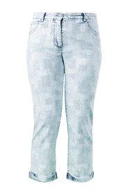 7/8-Boyfriend-Jeans mit Waffelstruktur