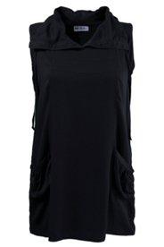 Blusentop, langes Modell mit Taschen und großem Kragen