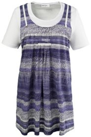 2-in-1-Kleid mit Elasthan