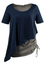 2-in-1-Longshirt aus Biobaumwolle, Lagen-Look