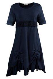 Kleid mit Spitze und doppellagigem Rock, Biobaumwolle