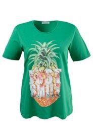 Shirt mit glitzerndem Ananasmotiv, Elasthan