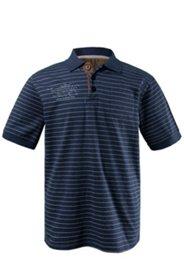 Poloshirt mit Ringeln und Brusttasche, Jerseyqualität