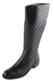 Stiefel mit Elastikeinsatz und Rautenstepp, Weite H