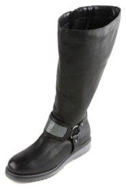 Stiefel mit Metallic-Dekor, Bikerlook, Weite H