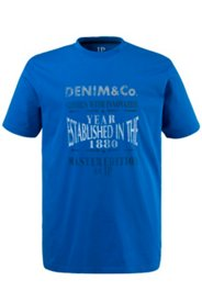 T-Shirt, Rundhals, Motiv Denim & Co, Baumwolle