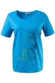 T-Shirt mit Sneaker-Motiv, Stretch