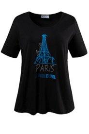 T-Shirt mit Paris-Motiv, Elasthan