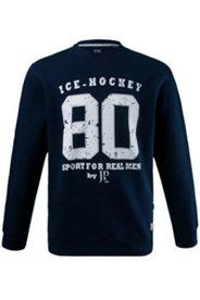Sweatshirt, Zahlen-Druck, bequem geschnitten, Baumwolle