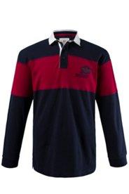 Rugby-Sweater, sportive Gabardine-Details, Rippbündchen