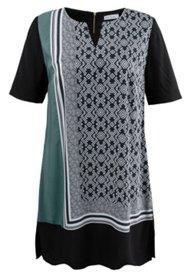 Blusenkleid im Patch-Look, weich fließende Viskose