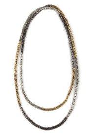 Kette, edler Mix aus Metallic-Perlen in Silber und Gold