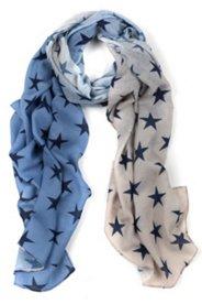 Schal mit Sternen und angesagtem Farbverlauf