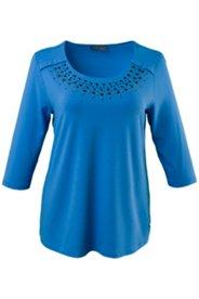 Shirt mit Collier-Design aus Glitzersteinen