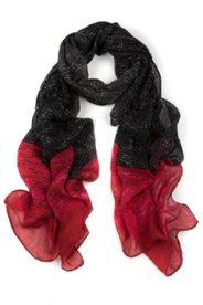 Schal, schwarz mit roten Enden