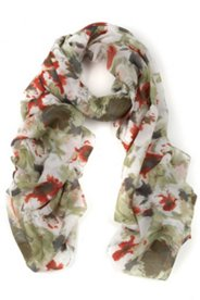 Schal mit Blütenmuster