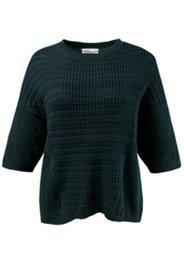 Pullover aus Bio-Baumwoll-Strukturstrick, weite Boxy-Form