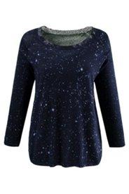 Pullover, InsideOut-Druck, 100% Baumwolle, Rundhalsausschnitt