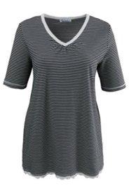 Shirt mit Spitzensaum, A-Linie