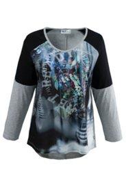 Shirt im 2-in-1-Look, mit Elasthan
