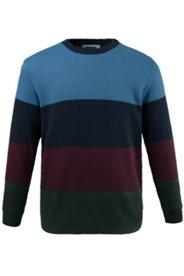 Pullover, Blockstreifen, Rundhalsausschnitt, gekämmte Baumwolle