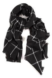 Schal mit gewebtem Karomuster, XL-Format