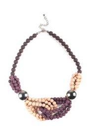 Collier aus verschlungenen Perlenreihen