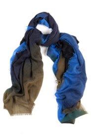 Schal, extra groß, Farbverlauf, Fransen, 100 x 200 cm