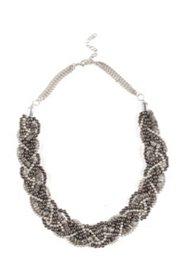 Perlenkette, kunstvoll geflochten