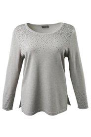 Pullover mit Dekor aus Ziersteinen