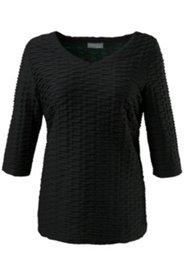 Shirt, 3D-Struktur, V-Ausschnitt, 3/4-Arm