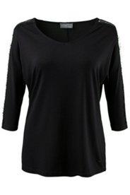 Shirt, transparente Spitzeneinsätze, Fledermausärmel