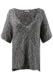 Pullover in Melange-Optik, Biobaumwolle