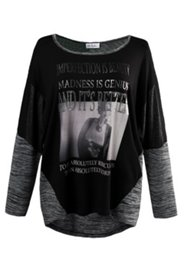 Shirt mit Fotomotiv und Pailletten, oversized
