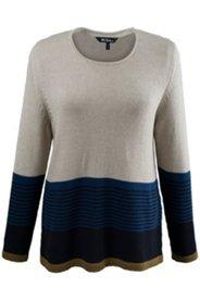 Pullover mit Blockstreifen, weicher Feinstrick