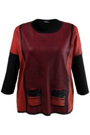 Pullover im Colourblocking-Look, oversized