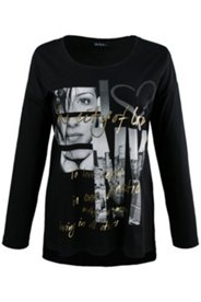 Oversized-Shirt, Motiv New York, Metallic-Effekt