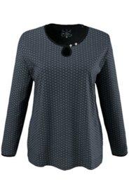 Shirt, Tropfen-Ausschnitt, Zierknöpfe, 100 % Baumwolle