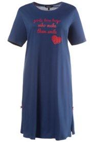 Bigshirt, Schriftzug und Herz, 100 % Baumwolle