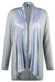 Shirtjacke, Schalkragen, offene Form, oil dyed