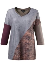 Blusenshirt, Patchlook, oversized