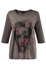 Shirt, Frauenmotiv, Spitzendetails, Elasthan