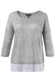 Pullover, 2-in-1-Optik, 3/4-Arm