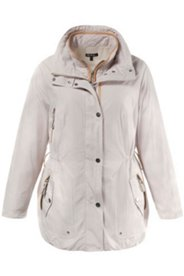 3-in-1-Jacke, Details in Lederoptik, Weste einzeln tragbar