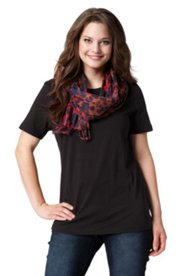 T-Shirt aus hochwertigem Baumwolljersey, körpernaher Schnitt