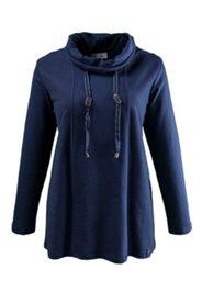 Sweatshirt mit Stehkragen und Teilungsnähten